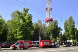 Пожар вблизи Киевского телецентра ликвидирован