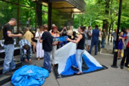 Митинг под ГПУ остался контролировать действия прокуроров по Одессе и Майдану