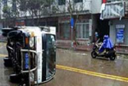 В Китае столкнулись более 60 автомобилей