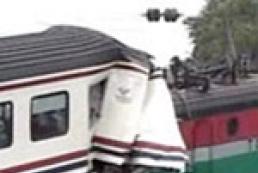 В Китае столкнулись два локомотива